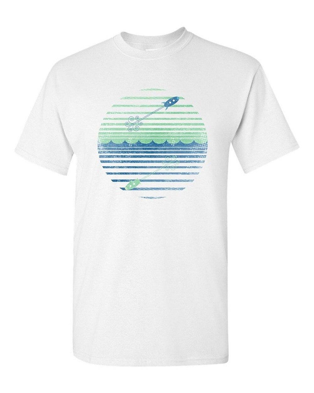 T Shirt Shop Crew Neck Short-Sleeve Fashion 2016 Mens Blast Off And Dive Deep Beanepod Artworks Art Tee Shirts