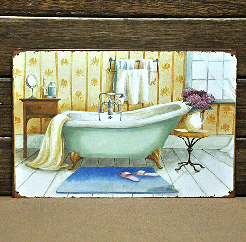 online buy wholesale vintage bathroom signs from china vintage, Bathroom decor