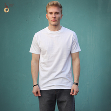 Aoliwen XXXL 2018 Brand Fashion Men's Short-Sleeved T-shirt O-Neck Men's Plain 100% Cotton T-shirt White Solid  Color T-shirt все цены