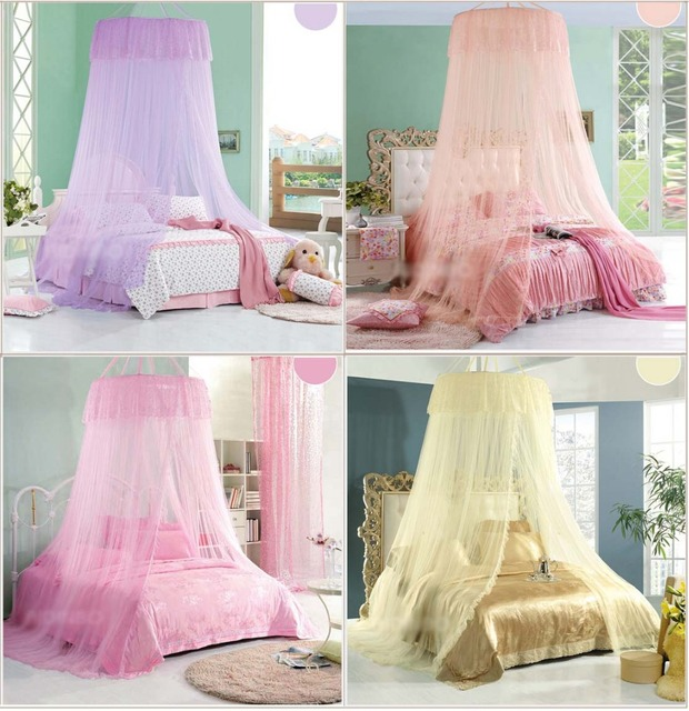 Hight QC Luxury Princess Mosquito Net Canopy Bites Protect Super King King Size Netting Bed Tent & Hight QC Luxury Princess Mosquito Net Canopy Bites Protect Super ...