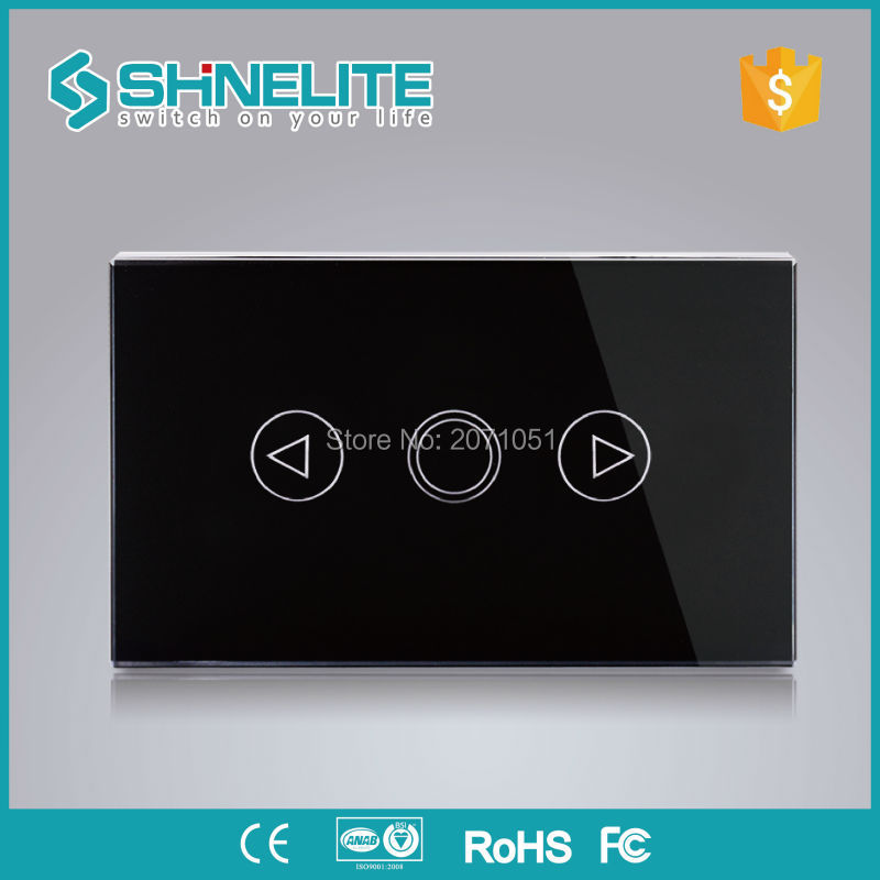 Shinelite Touch switch, Crystal Glass Panel, US/AU standard, Dimmer Control Touch Wall Light Switch/Home Automation smart home us black 1 gang touch switch screen wireless remote control wall light touch switch control with crystal glass panel