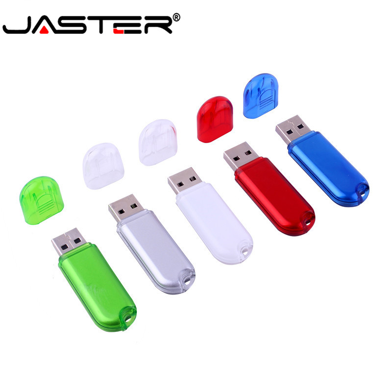 JASTER Promotion Real Capacity 5-color Straight Creative Plastic External Storage USB 2.0 4GB 8GB 16GB 32GB 64GB USB Flash Drive
