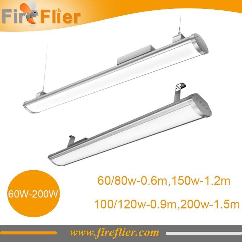 Livraison gratuite 10 pièces 60 w 80 w 100 w 120 w 150 w 200 w ip65 plat linéaire basse baie lumière 2ft 3ft 4ft 5ft led linéaire bar intérieur et extérieur - 4