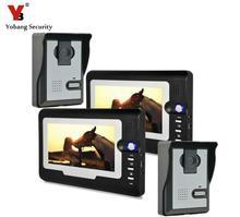 Yobang Security Door Video Intercom 7inch TFT LCD Door Bell Video Phone Video Door Phone Intercom Entry System
