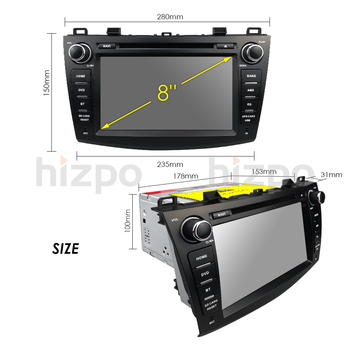 IPS 8 2 din car dvd radio stereo Android 8 1 GPS for mazda 3