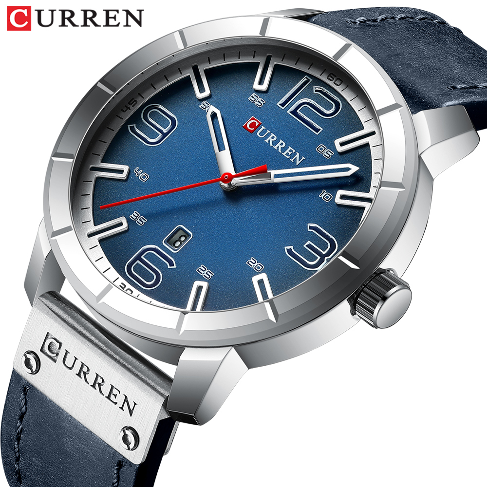 2019 Mens Watches CURREN Top Brand Luxury Quartz Watch Fashion Casual Business Wristwatches Leather Male Watch Relogio Masculino
