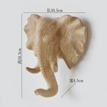 6style Nordic Home Creative Cartoon Elephant Head mannequin Seamless Dress Hanging Hook Walll porch key point 3PC/SET c615