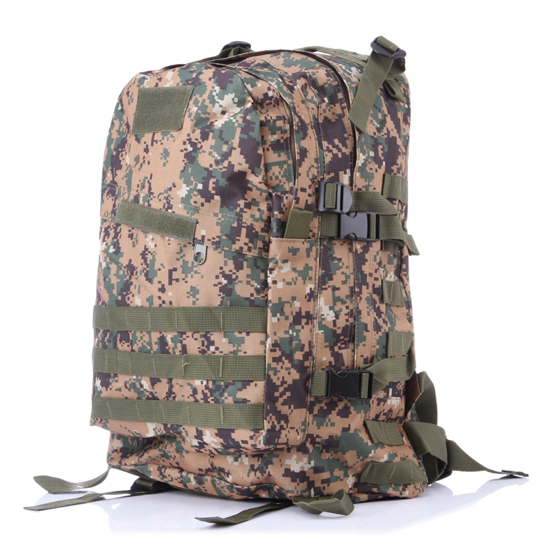 2016 Fashion large capacity military nylon bag Man and Women camouflage 3D backpack 1510
