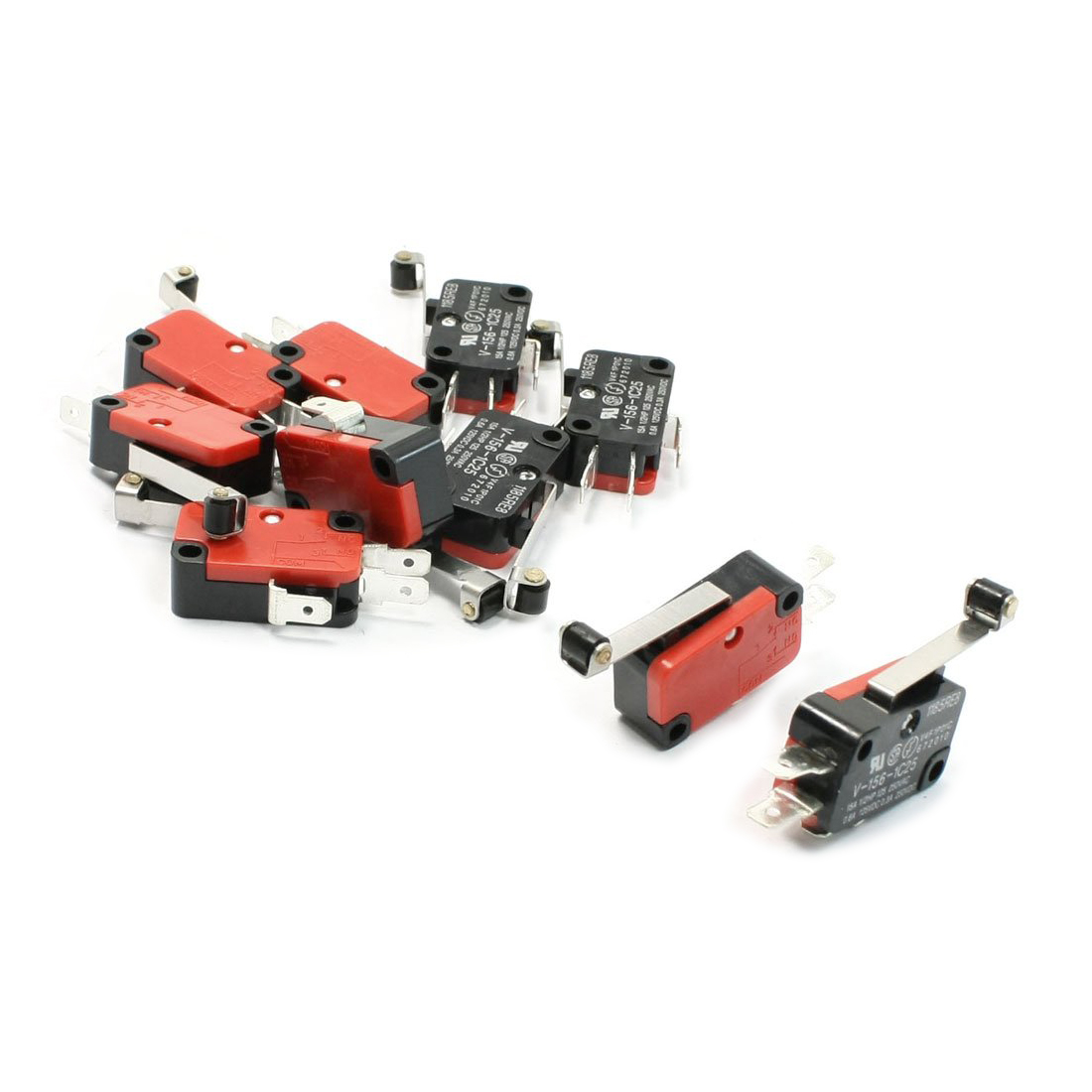 Promotion! 10 Pcs Micro Limit Switch Long Hinge Roller Lever Arm Snap Action LOT 10pcs lot v 153 1c25 limit switches long straight hinge lever type spdt micro switch mayitr for electronic measuring appliance
