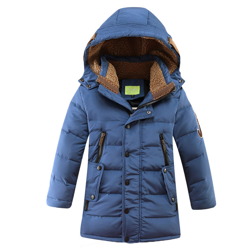 Retail 2018 Winter New Boys Fashion Down Coats Children Long Jacket Thicken Outdoor Warm Hooded Kids Parkas Windproof Outerwear цена
