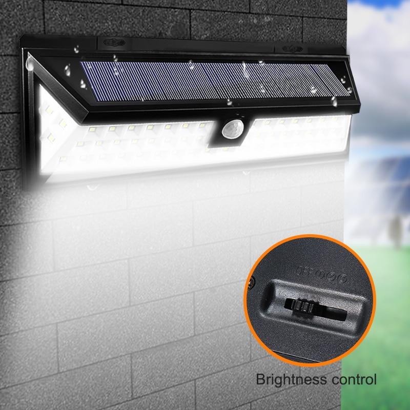 Logisch Wasserdicht 20/54 Leds Solar Licht 2835 Smd Weiß Solar Power Outdoor Garten Licht Pir Motion Sensor Pathway Wand Lampe 3,7 V Led-lampen