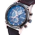 2016 design da marca de moda homem de couro relógio masculino fresco esporte militar digital LED de pulso de natação relógio de quartzo presente do negócio
