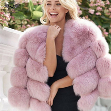 Tatyana Furclub Real Fur Coat Natural Fox Jacket Winter Luxury Short Style Girl Fashion Outwear