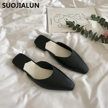 купить 2019 Women Slippers Mules Women Shoes Beach Casual Sandals Half Slippers Outdoor Flip Flops Slides Mules shoes дешево