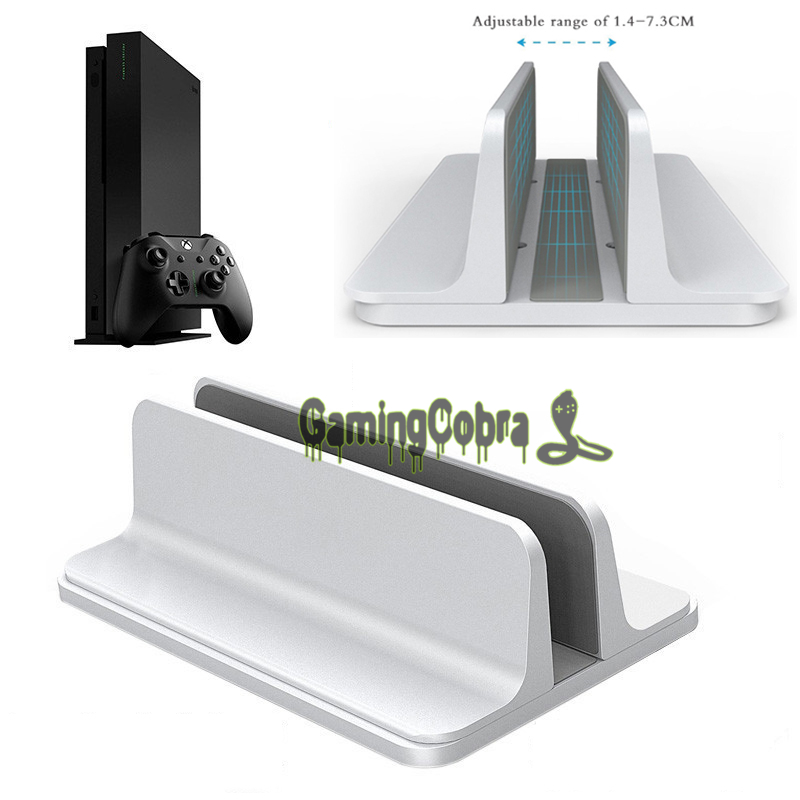 Aluminum Alloy Metal Vertical Stand Holder Bracket Mount For Xbox One X font b Game b