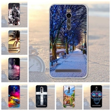 цена на for Asus ZenFone 2 ZE550ML 5.5 inch Soft Silicone TPU Tree Scenery Phone Case for Asus ZenFone 2 ZE550ML Deluxe ZE551ML Case