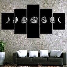 Lunar eclipse HD Print Painting Landscape Home Decor For Canvas Wall Art Living Room 5 Piece