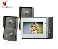 Yobang безопасности Vido Домофон Системы проводной телефон видео домофон внутреннего блока безопасности Системы открытый Камера