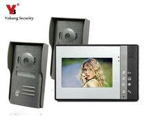 Yobang Security Vido Door Intercom System Wired Video Door Phone Intercom Indoor Unit Security System Outdoor Camera