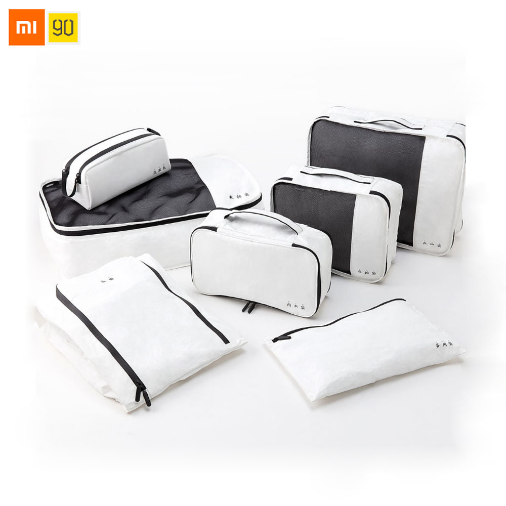 Xiaomi Mijia 90Fun DuPont bolsa organizador de almacenamiento de papel bolsa de ropa Portátil Bolsa de ropa interior impermeable bolsa de viaje fácil de llevar