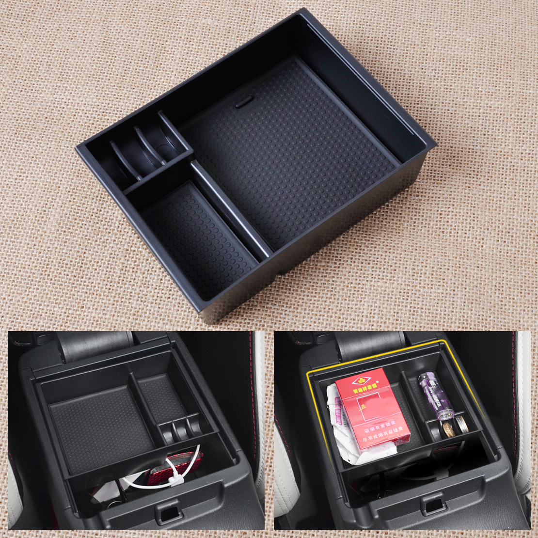 CITALL Inner Control Armrest Storage Secondary Glove Box Organized Container With Rubber Mat For Mazda 6 Atenza 2013 2014 2015