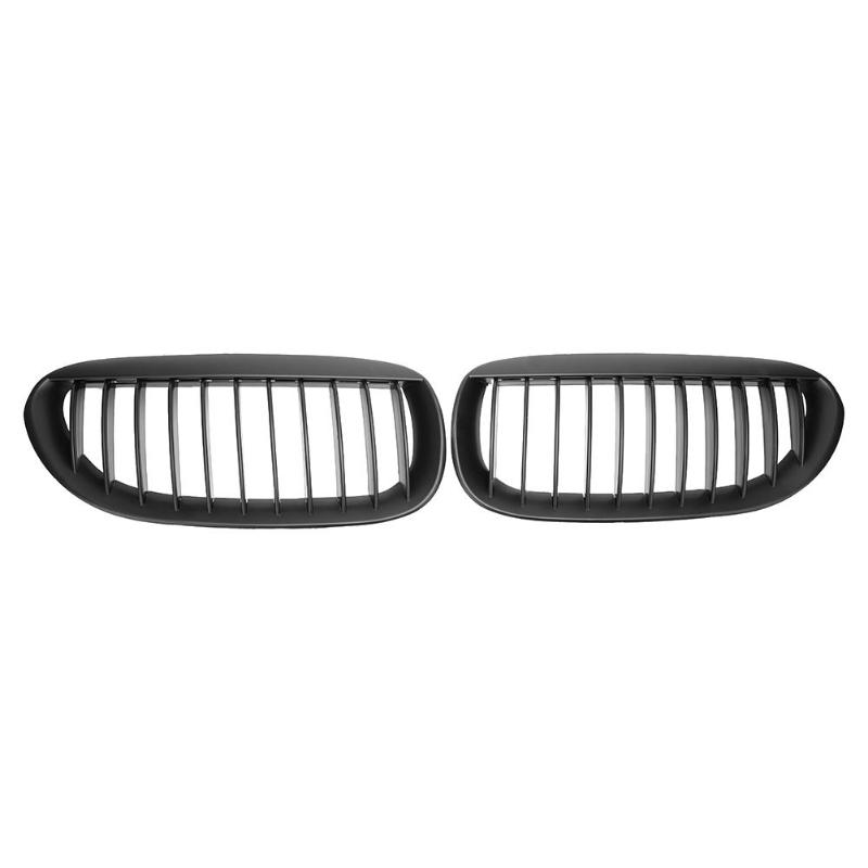 1 Pair Matte Black Car Front Kidney Grilles Auto Racing Grill for BMW 6 Series E63
