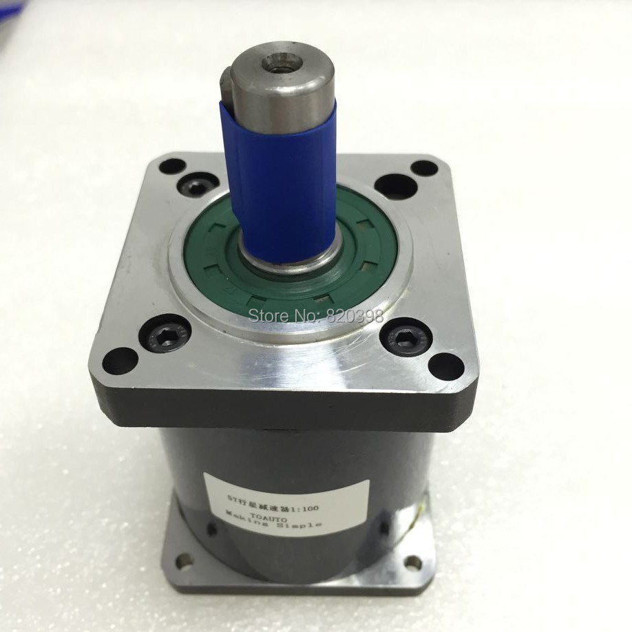 цена на Nema23 Planetary Gearbox Gear Ratio 100:1 for Nema23 Stepper Motors Max 40Nm Shaft 14mm L70mm High Torque Planetary Reducer