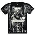 Top Quality 2016 Summer New Brand Men's Cotton Short Sleeve T-shirt Fashion O-neck Casual Skull Wolf 3d Print T shirt M-XXXL
