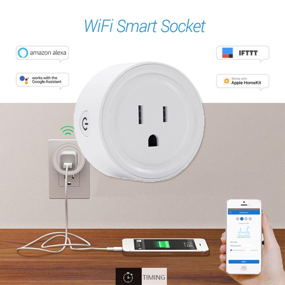 Wifi Fernbedienung Mit Alexa Timing Auf/off Die Power Samrt Google Home Elektrische Mini Buchse Weniger Teuer Uns Uk Eu Smart Stecker