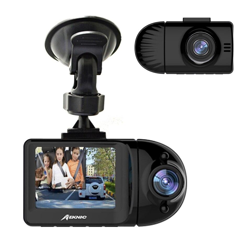 Meknic A3 Uber double caméra de tableau de bord Vision nocturne parfaite double réel 1920x1080 P Wi-Fi voiture tableau de bord caméra prise en charge 256 GB carte mémoire