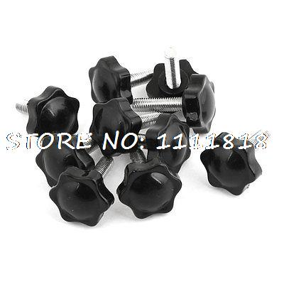 32mm Head Dia M8 x 30mm Male Thread Screw On Type Clamping Screw Knob 10 Pcs m8 x 40mm male thread 32mm star head dia screw on type clamping knob 8 pcs