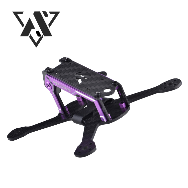 Awesome F100 100mm Wheelbase four-axis aircraft Pure carbon fiber for Mini FPV Racing drone frame Kit awesome f200 200mm drone frame kit wheelbase fpv racing drone four axis quadcopter frame kit carbon fiber rc aircraft model toy