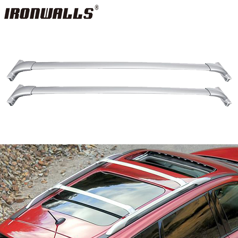 Ironwalls <font><b>Car</b></font> Roof Rack Cross Bars Snowboard/bike rack, luggage box cargo basket carrier For Nissan Pathfinder 2013 2014-2017
