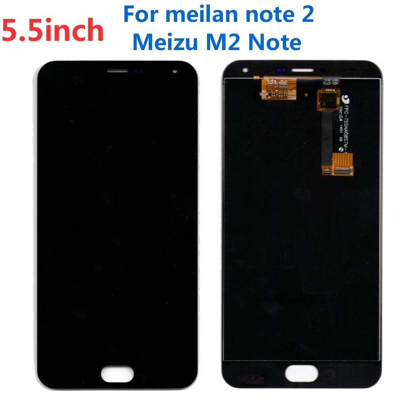Negro alta calidad de trabajo Meilan nota 2 LCD de pantalla táctil digitalizador