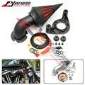 2 Cores Da Motocicleta Frete grátis Modificado Pico Air Filter Cleaner Intake Se Encaixa Para Harley XL 1200 883 Sportster XLH1200