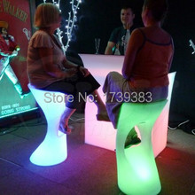 Led Luminous Furniture rechargeable High bar stool lights unbreakable bar stools KTV outdoor indoor personalized high