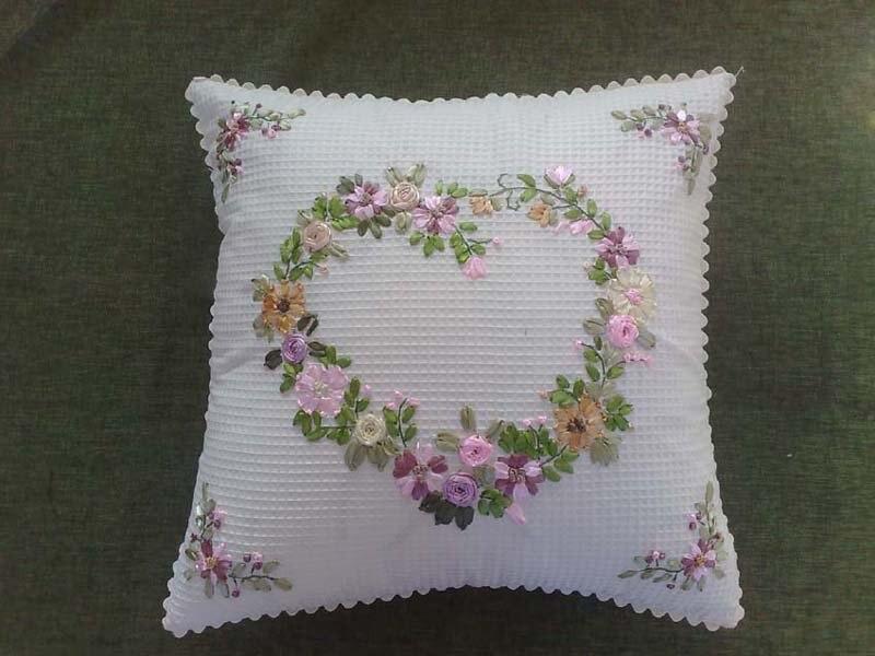 Heart shape flowers wholesale finished handmade ribbon
