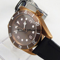 Sapphire Crystal 41mm Coffee Dial Brass Coated Case Luminous Marks 20ATM Waterproof Automatic Movement Men's Watch BC98