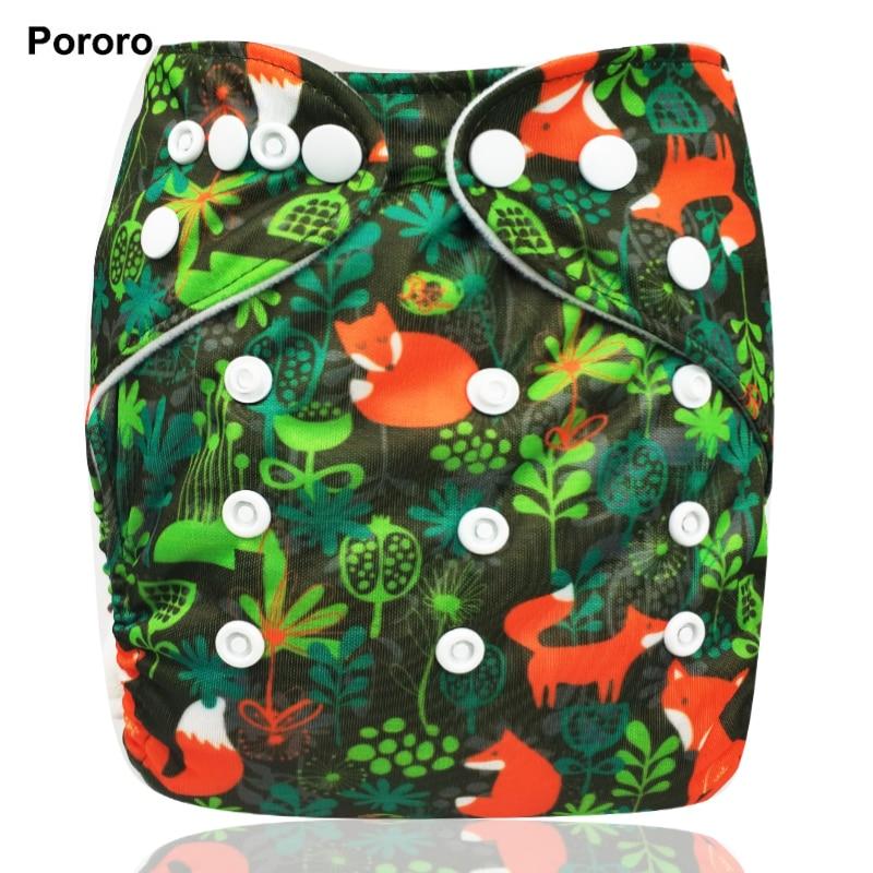 Бренд Pororo, 1 шт., водонепроницаемый детский подгузник с цифровым принтом, один размер, карманный тканевый подгузник, многоразовые детские по...