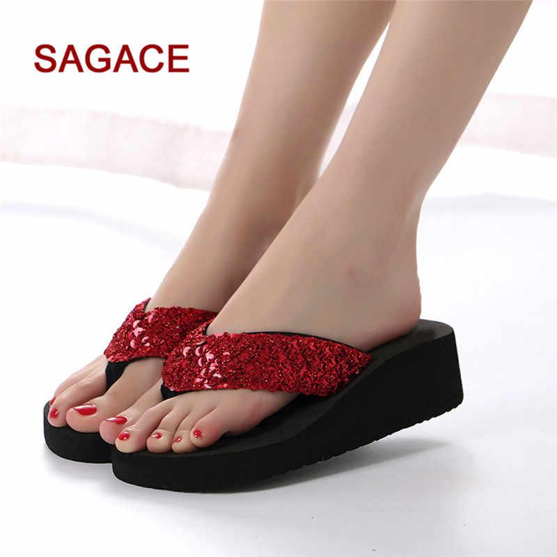 ea8e567f1f5900 ... Women s Summer Sequins Anti-Slip Sandals Slipper Indoor   Outdoor Flip- flops p  ...