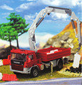 KAIDIWEI Atego With Crane Truck Wagon 14*5*4CM 1:50 Alloy Vehicles Toys Gifts Models Collection