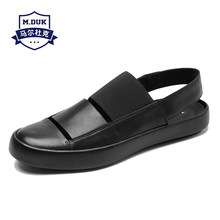 b3e1043933384 Summer sandals 2018 new Genuine leather men s Rome shoes Sneakers Men  Slippers Flip Flops casual Shoes