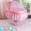 Banda mosquito mosquito net bebê cama portátil Bebê cama berço multifuncional bebê perambulatory shaker com rodas