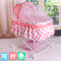 Portable Baby bed band mosquito net baby cradle bed multifunctional baby shaker with wheels perambulatory