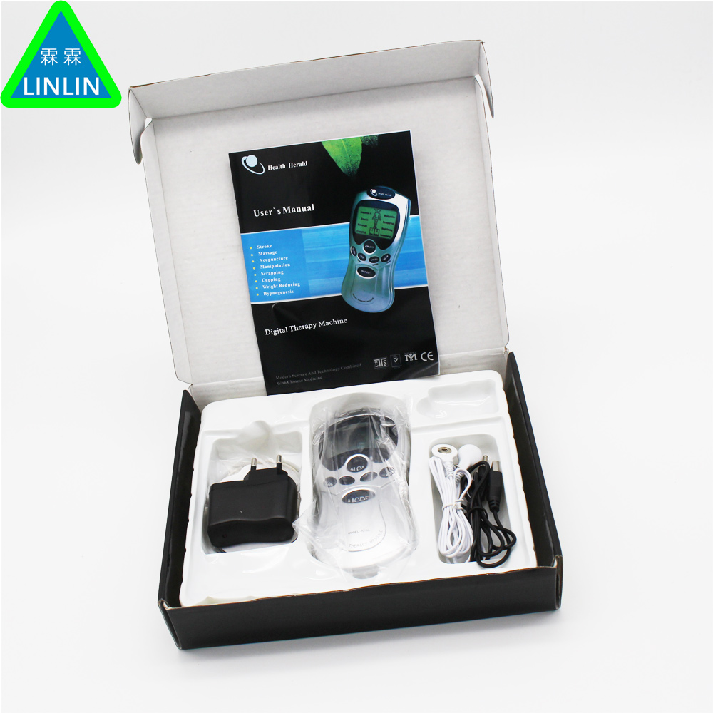 2 Electrode Health Care Tens Acupuncture Electric Therapy Massageador Machine Pulse Body Slimmming Sculptor Massager Apparatus 1 set health care herald meridian apparatus tens acupuncture digital therapy machine body massager with tens gloves
