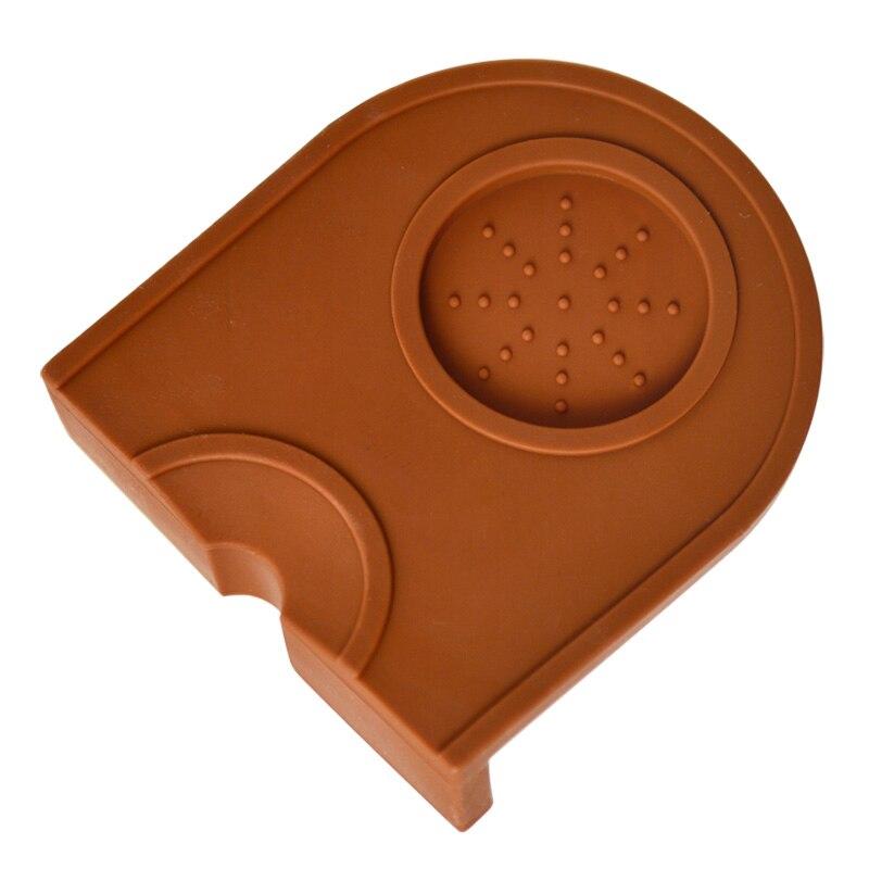 Small Non-Slip Espresso Double Coffee Tamper Pad Silicone Coffee Hammer Mats Corner Coffee Powder Maker Hammer Pressure Mat