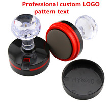 DIYPhotoSensitive Seal Auto Ink Custom Professional Rubber Stamp Motto Logo Personalized Round ILOVEYOU Office supplies.