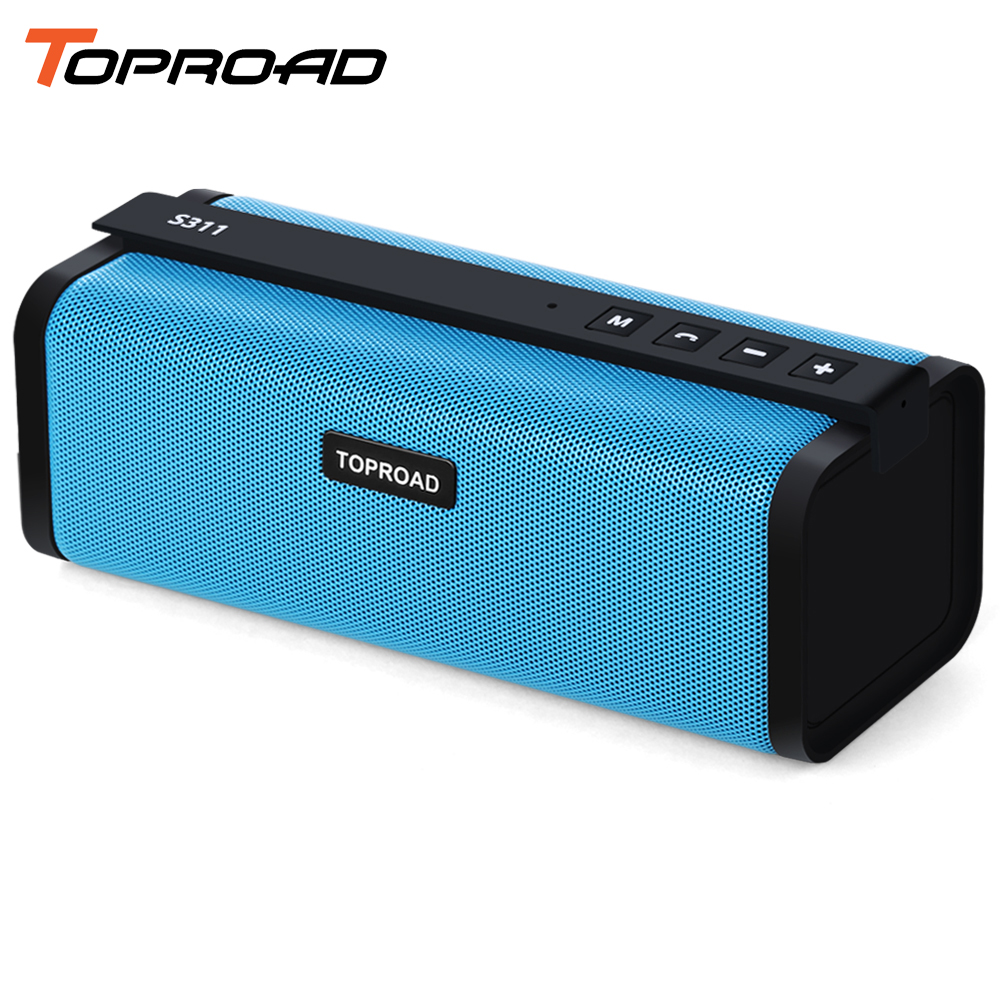 TOPROAD Portable Bluetooth Speaker Wireless 10W HIFI Stereo Sound Speakers Column Boombox Support TF AUX FM