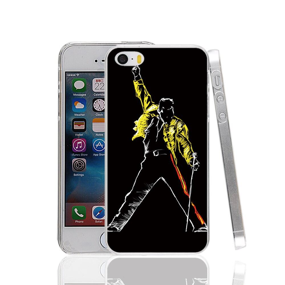 17645 Hot Freddie Mercury Queen hard transparent Cover Case for Apple iPhone 4 4S 5 5S 5C SE 6 6S Plus