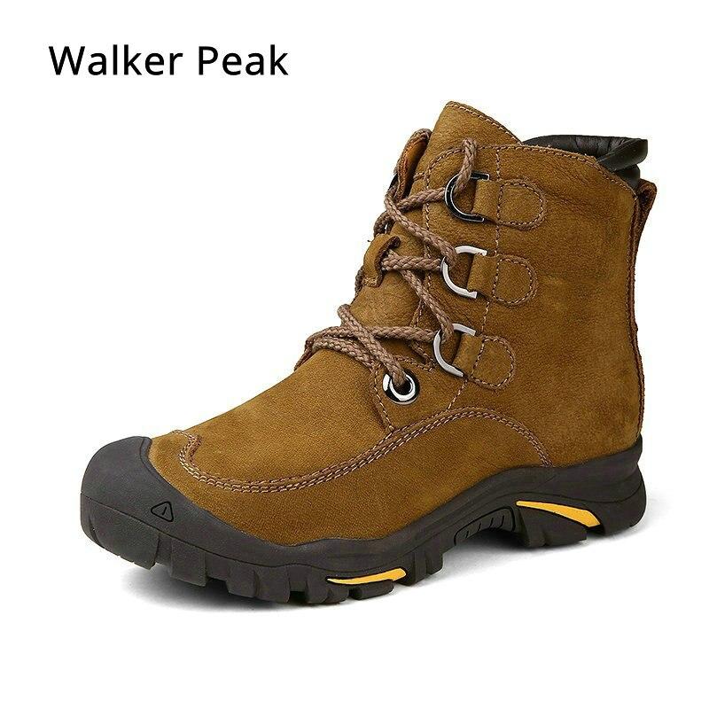 Hiver bottines mens Véritable Cuir bottes de neige grande taille 38-49 En Plein Air Chaud Chaussures D'hiver pour Hommes Anti-froid Bottes walker Pic
